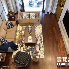 面积141平别墅客厅混搭装修设计效果图片大全