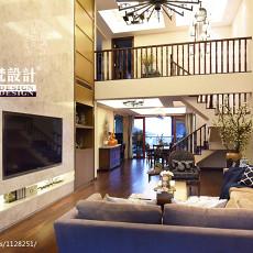 2018面积118平别墅客厅混搭装修效果图片欣赏