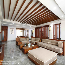 精美116平米四居客厅东南亚装修设计效果图片欣赏