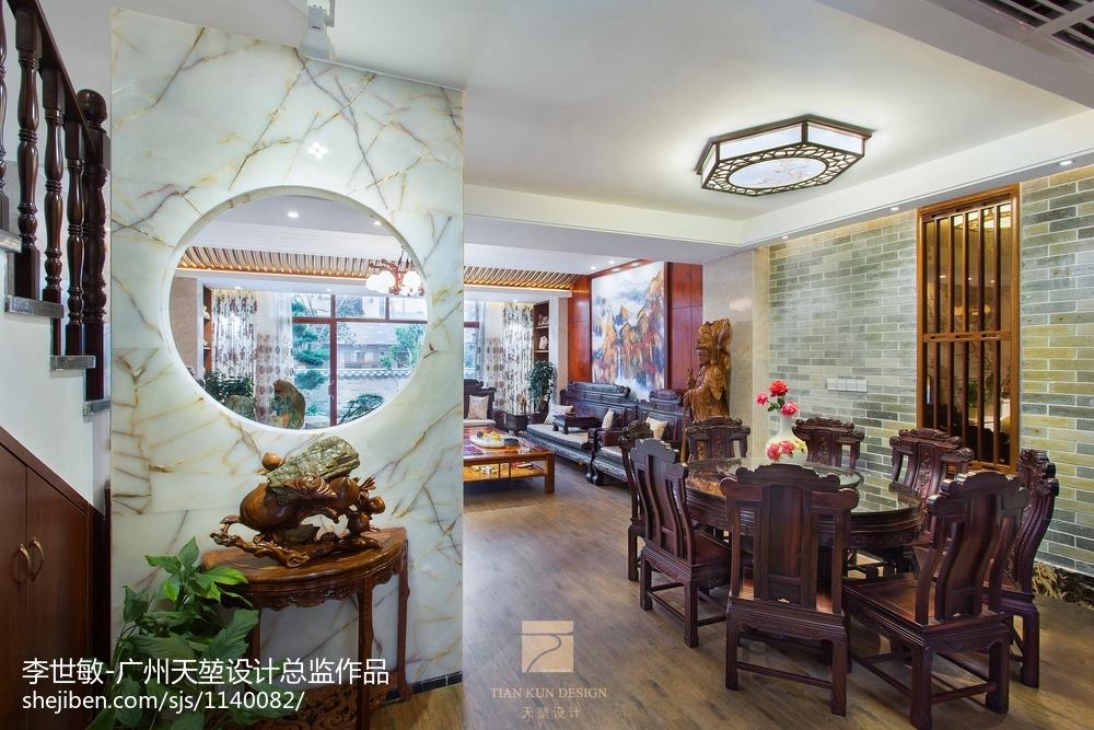 精美121平米中式别墅餐厅装修欣赏图