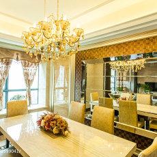 精选面积142平别墅餐厅混搭装修实景图