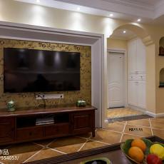 面积95平美式三居客厅装饰图片大全