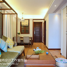 精选80平米东南亚小户型客厅装修实景图片大全