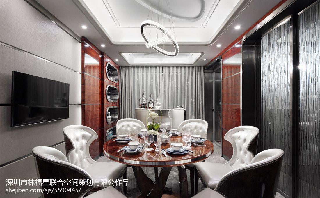 热门面积137平别墅餐厅现代效果图片大全