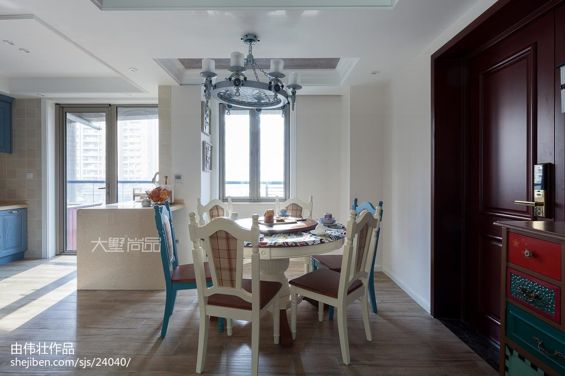 精选95平米三居客厅地中海装修欣赏图