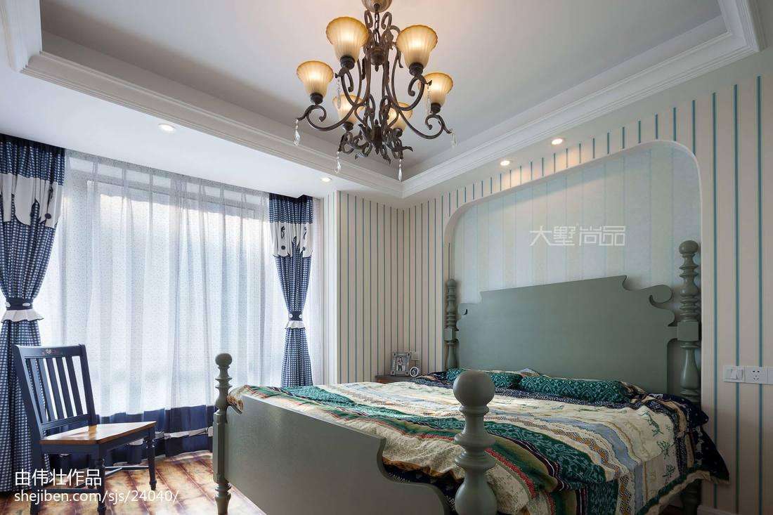 2018地中海三居卧室装修设计效果图片大全