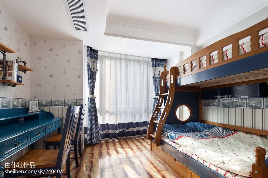 2018面积102平地中海三居儿童房效果图片