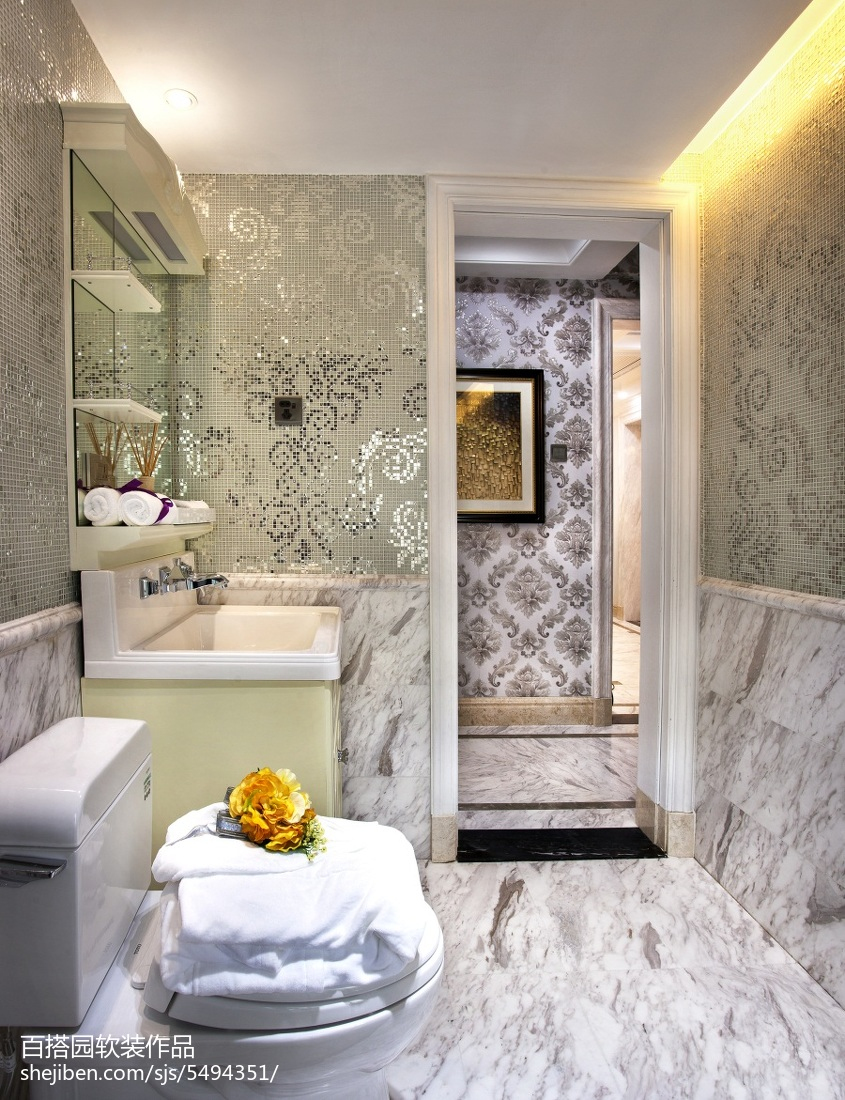 精美新古典卫生间装修设计效果图片欣赏