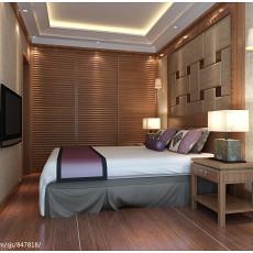 2018二居卧室中式装修图