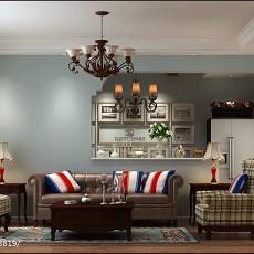 精选94平方三居客厅美式装修图