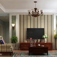 201896平方三居客厅美式装修设计效果图