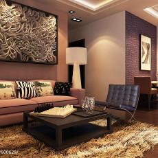94平方三居客厅现代实景图片欣赏