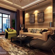 2018面积70平现代二居客厅实景图