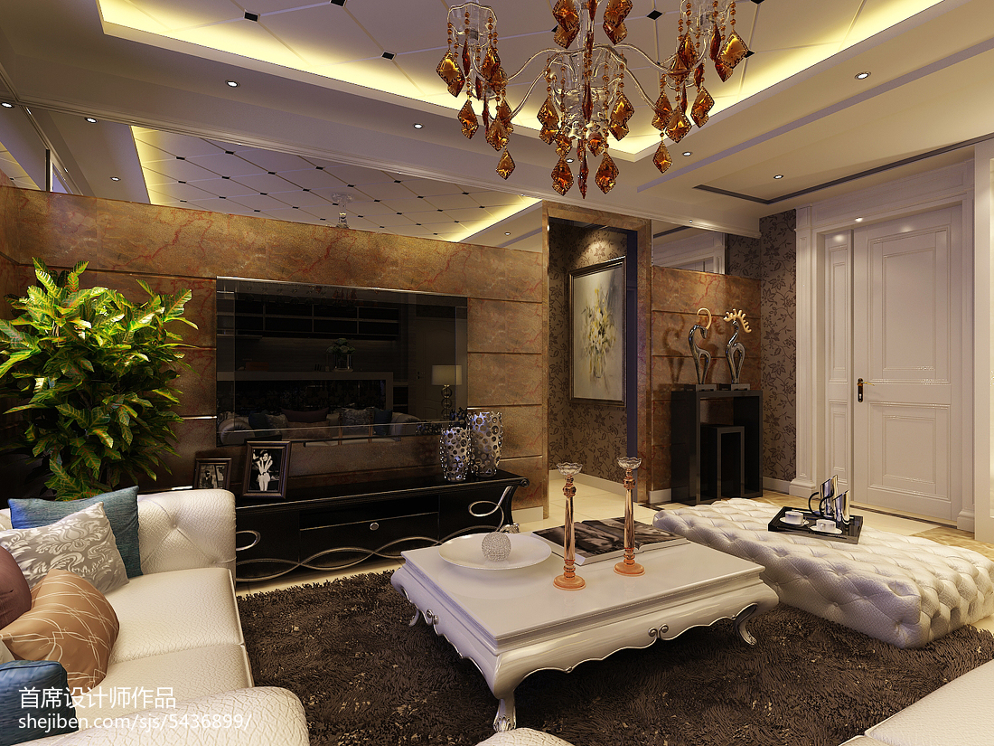 北欧时尚一居室客厅装修图片