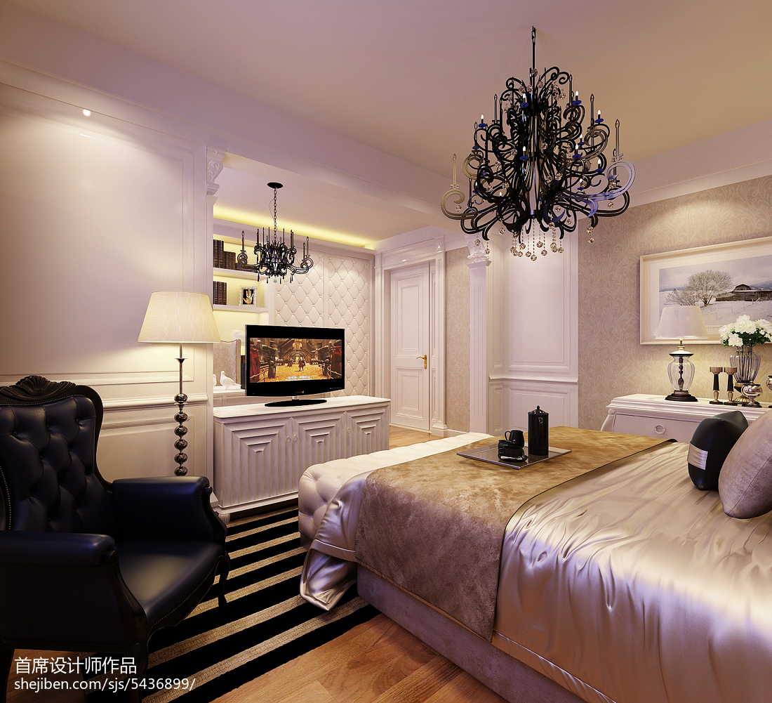 北欧时尚一居室卧室装修图片