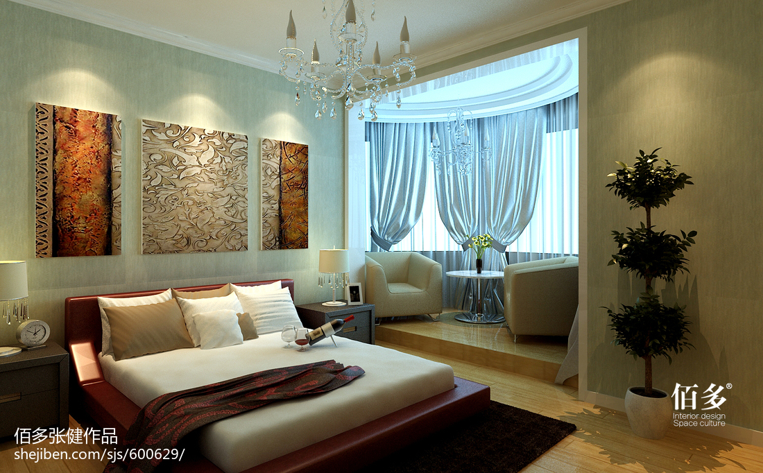 精选70平米二居卧室现代装修欣赏图