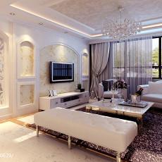 热门面积90平欧式二居客厅效果图片