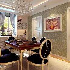 精选面积73平欧式二居餐厅装饰图片大全
