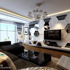 精选108平方三居客厅现代实景图