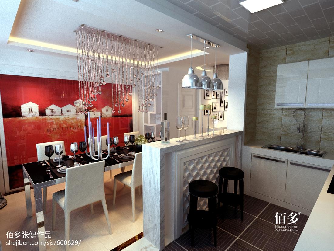 精美大小99平现代三居餐厅装修效果图片大全