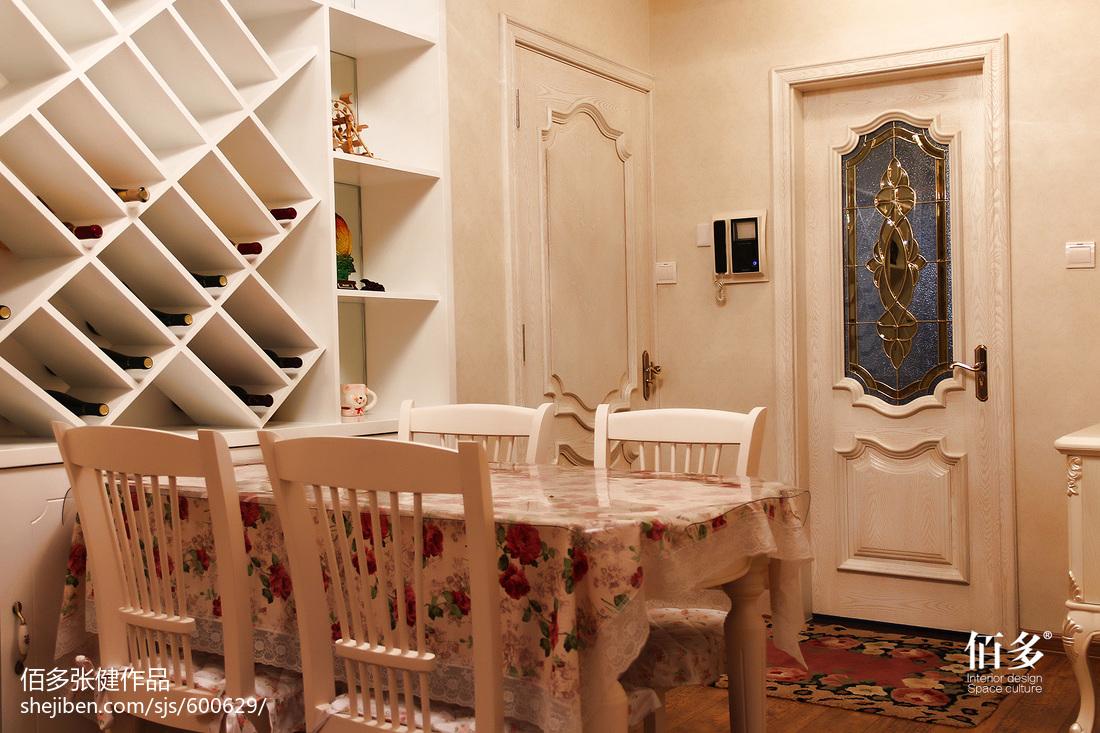 精美面积87平欧式二居餐厅效果图片欣赏