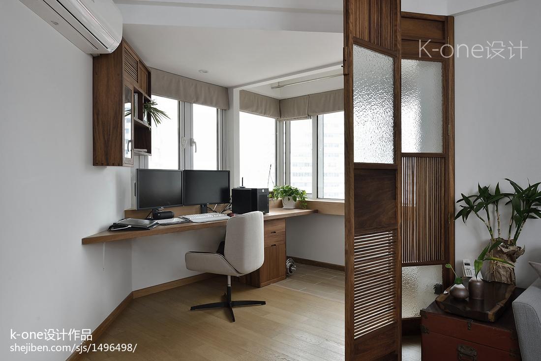 大气82平现代二居书房装修设计图