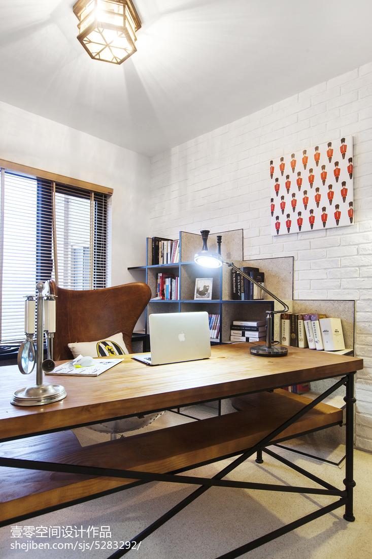精选122平米四居书房混搭装修效果图片欣赏