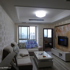 热门85平米现代小户型客厅装修实景图片欣赏