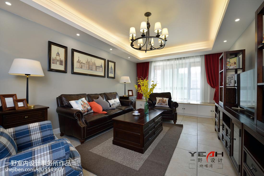 华丽92平美式三居装修案例