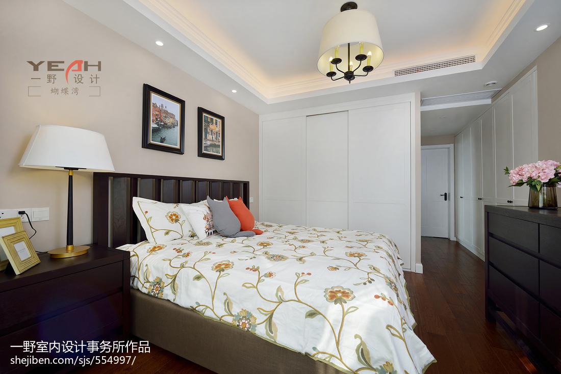 精致126平美式三居卧室装修图片