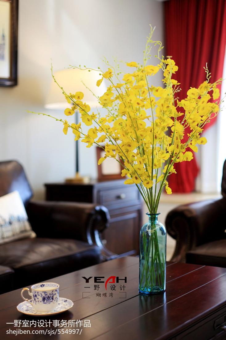 热门102平方三居客厅美式效果图片