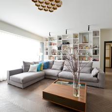 热门大小102平现代三居客厅装修图片欣赏