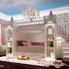 热门面积128平欧式四居儿童房装修图片欣赏