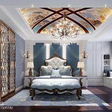 精选110平米四居卧室欧式装修实景图片大全