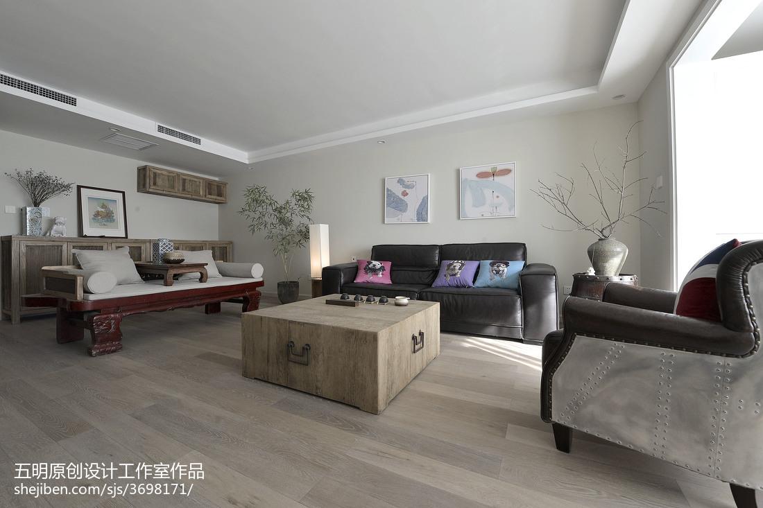 精美106平米3室客厅混搭设计效果图