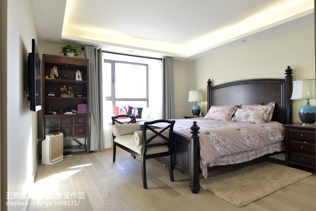 精选102平米三居卧室混搭装修欣赏图