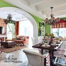 2018精选面积133平别墅餐厅美式装修效果图片大全