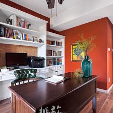 热门面积117平别墅书房美式装修效果图片