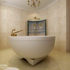 精选128平米欧式别墅卫生间装修效果图片欣赏