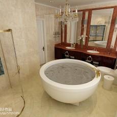 2018精选134平米欧式别墅卫生间装修实景图片
