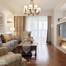 热门138平米四居客厅美式实景图片