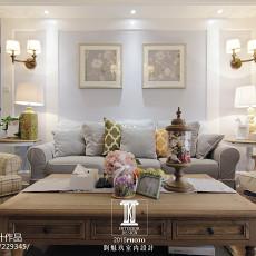 精美大小116平美式四居客厅装修实景图片大全