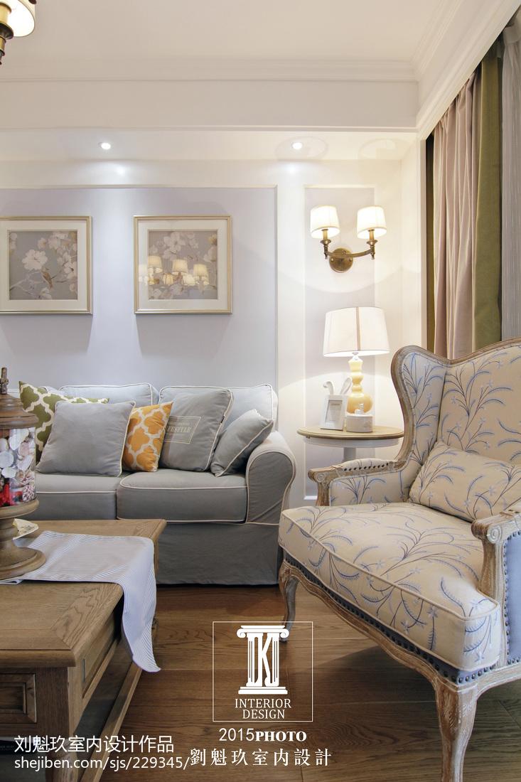 2018精选面积137平美式四居客厅装饰图片欣赏