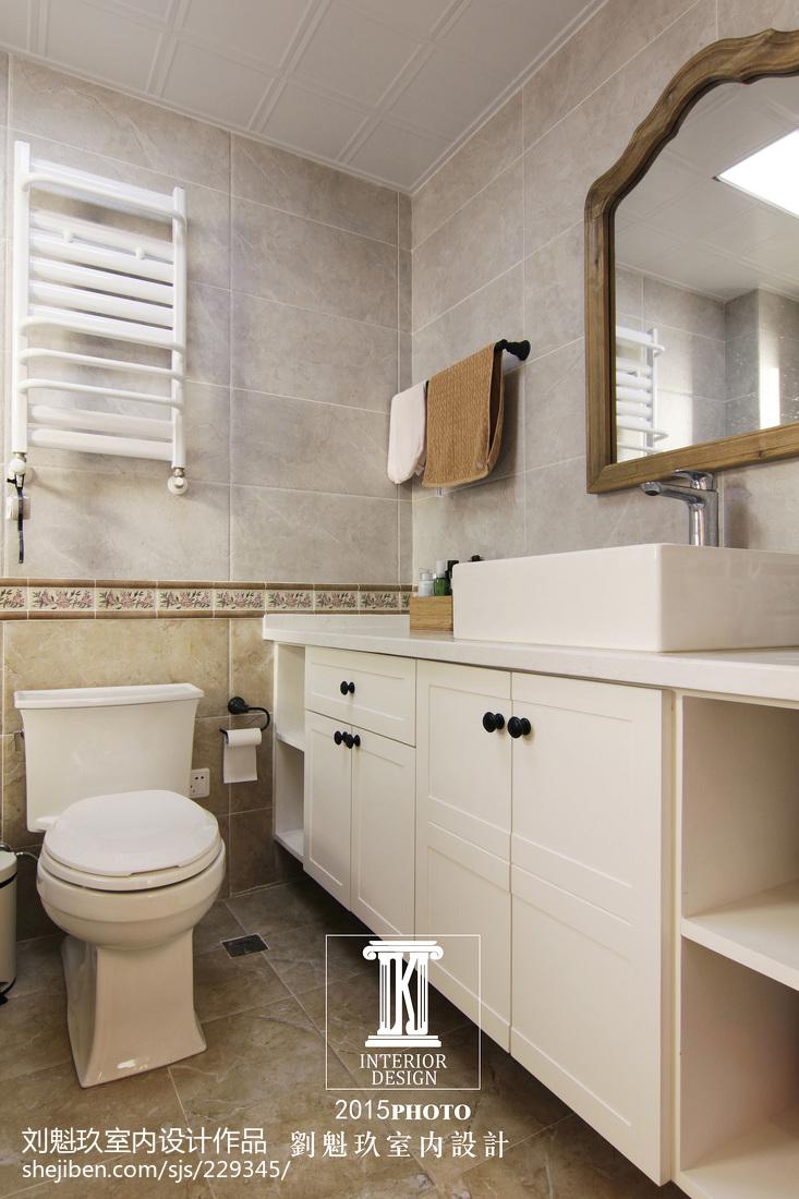 精选114平米四居卫生间美式装饰图片