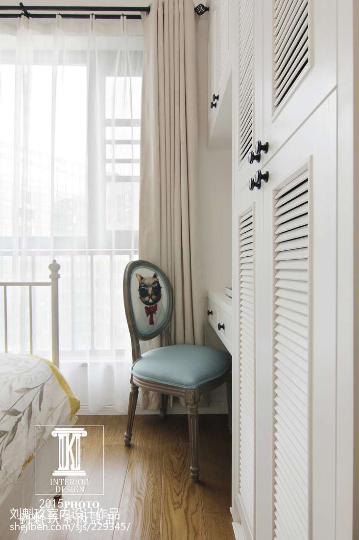 热门面积124平美式四居儿童房装修效果图片