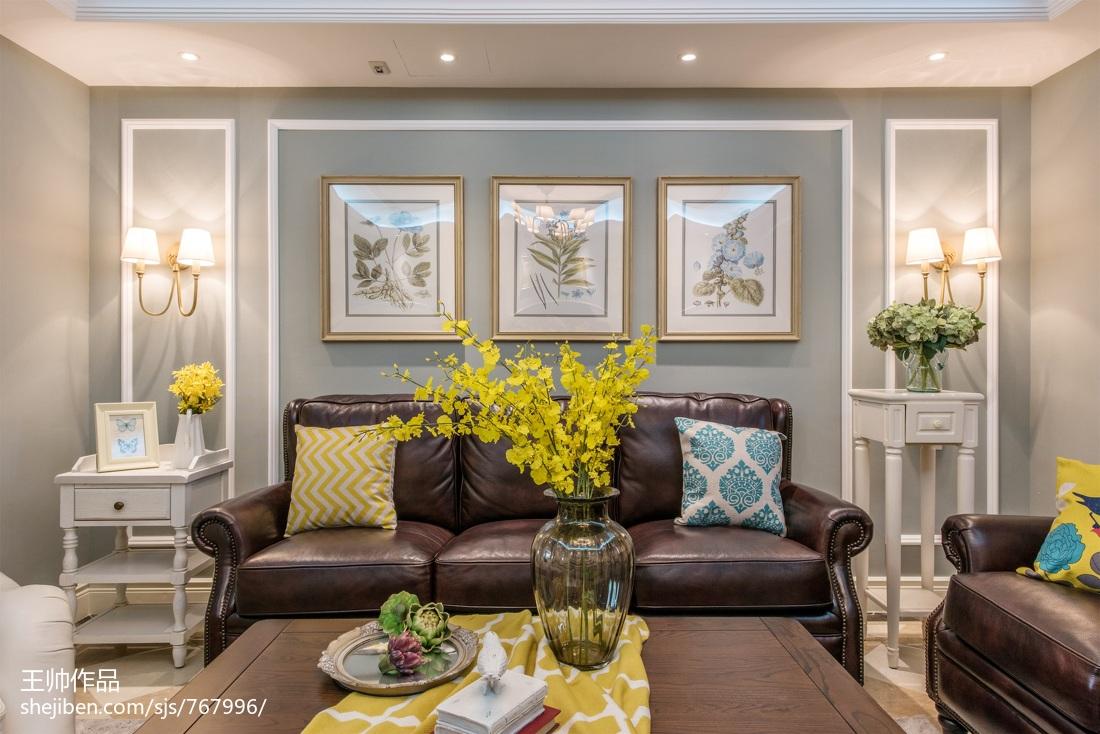 面积121平欧式四居客厅装修图片欣赏
