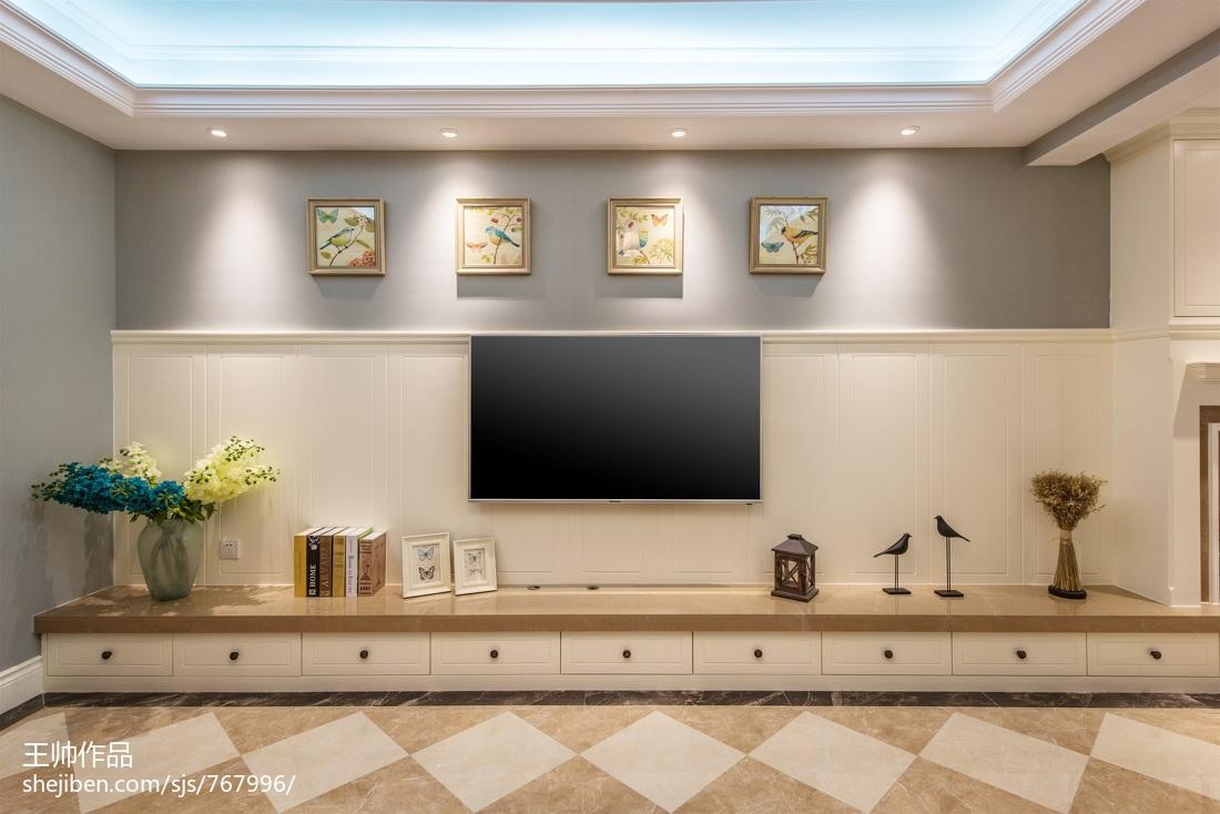 精美面积113平欧式四居客厅装修欣赏图