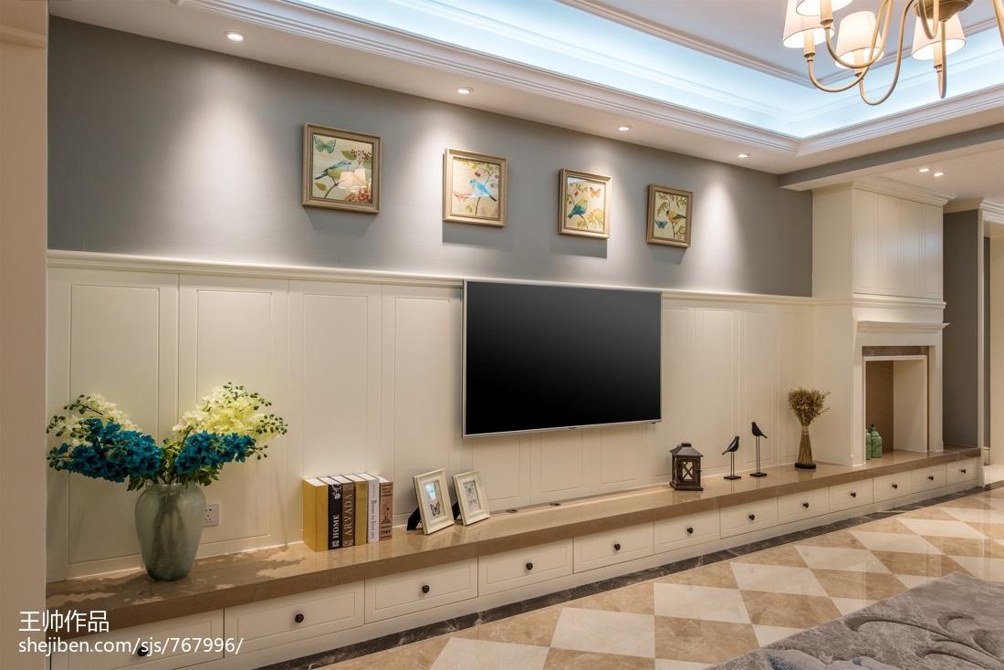 热门127平米四居客厅欧式效果图片欣赏