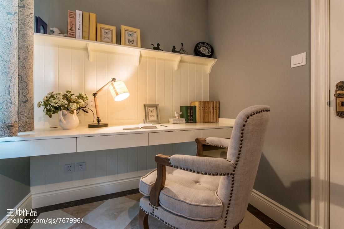 精美115平米四居书房欧式装修欣赏图