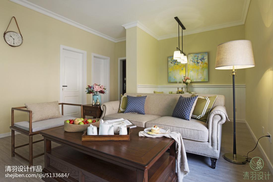 三居室混搭风格客厅隔断设计